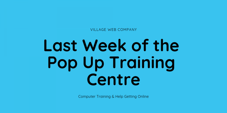 Last week of the Romiley pop up training centre